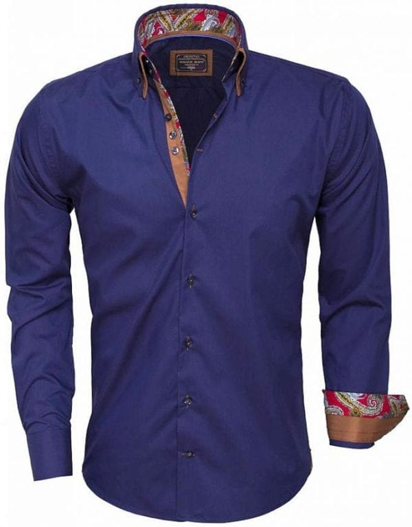 Arya Boy Italiaans overhemd 85254 navy