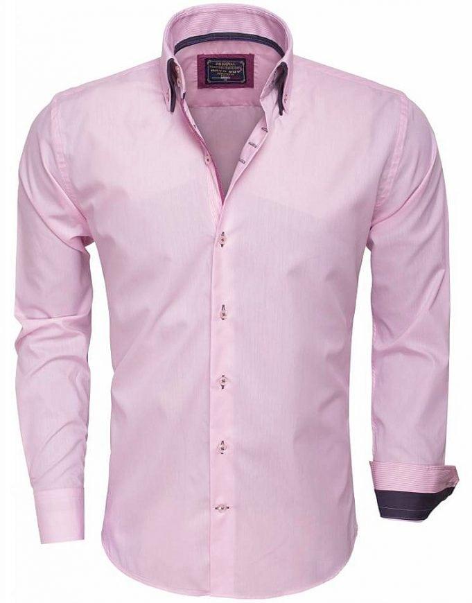 Arya Boy Overhemd.Arya Boy Italiaans Overhemd Roze 85257 Bendelli