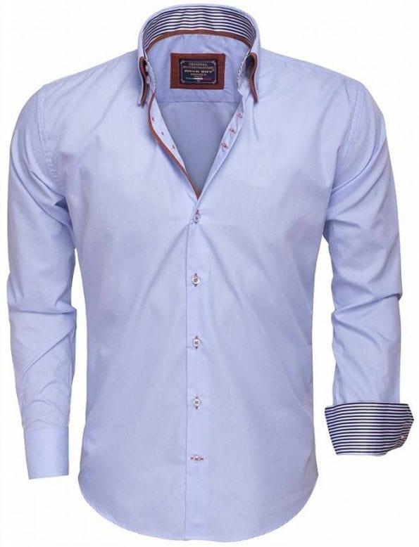 Arya Boy Italiaanse overhemd Goedkope Italiaanse overhemden Bendelli 85256 light blue