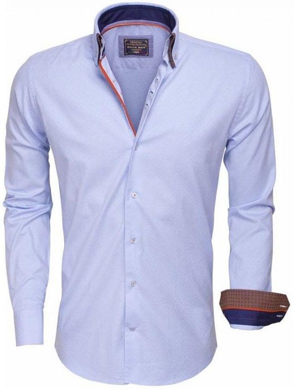 Arya Boy Italiaanse overhemd Goedkope Italiaanse overhemden Bendelli 85258 Lichtblauw