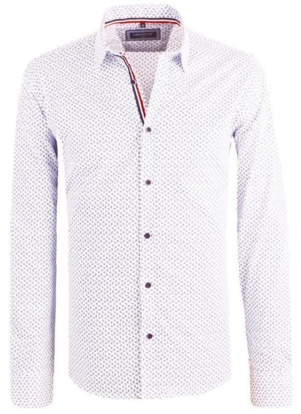 Carisma heren overhemd lange mouw shirt gewerkt blauw blouse 8412 8 Groot
