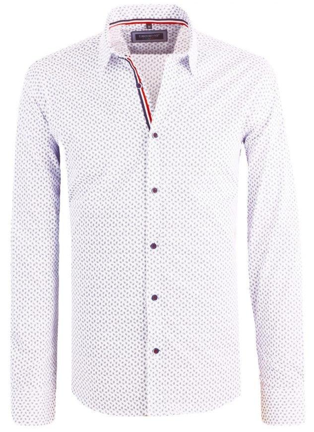 Heren Overhemd Wit.Carisma Italiaans Heren Overhemd Gewerkt Wit Bendelli