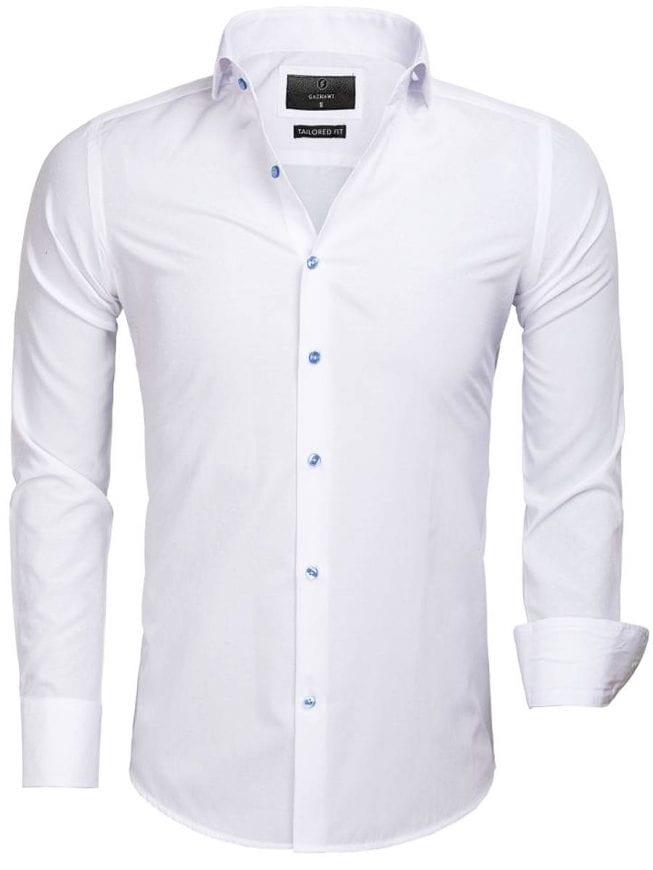 Gaznawi overhemd wit slimfit heren Cremona 65033 voorkant Bendelli Hernemode