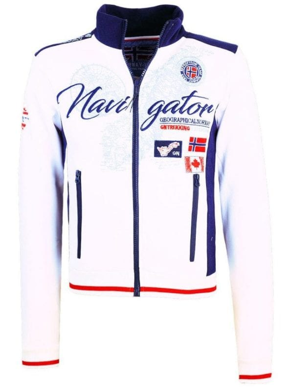 Geographical Norway Heren vest opstaande kraag wit Feriminel 1 1