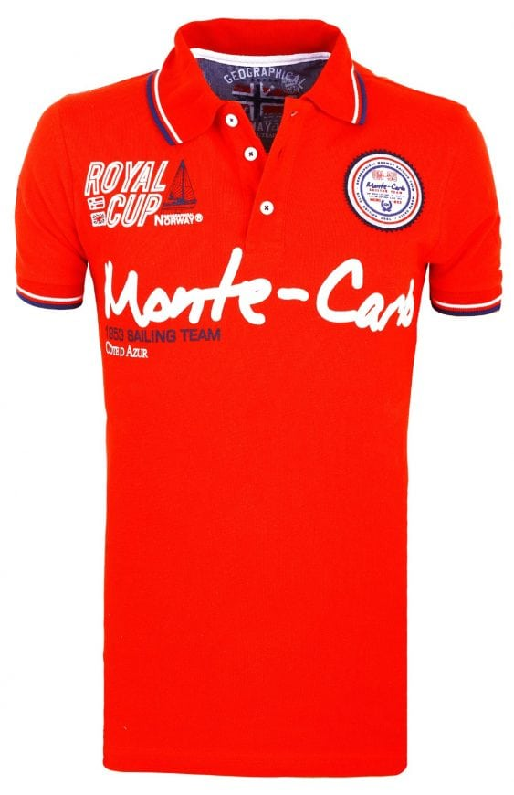 Geographical Norway Herenpolo Monte Carlo Poloshirt Karo Rood 1 Groot