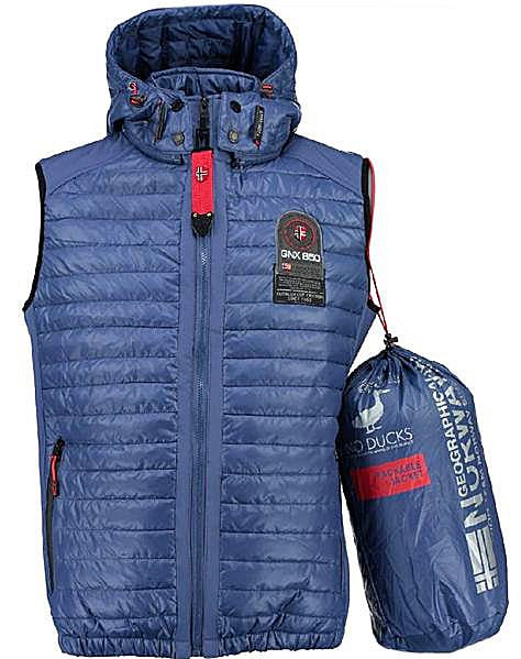 Geographical Norway Heren Bodywarmer Vainqueur Blauw Bendelli 6