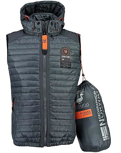 Geographical Norway Heren Bodywarmer Vainqueur Grijs Bendelli 9