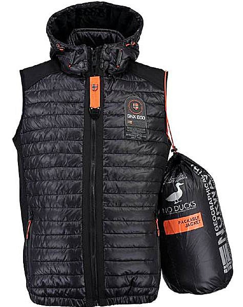 Geographical Norway Heren Bodywarmer Vainqueur Zwart Bendelli 13