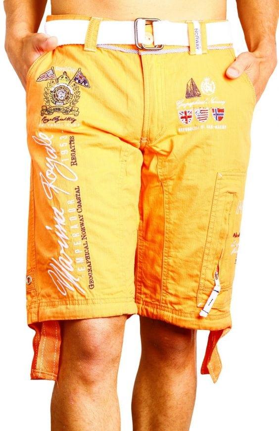 Geographical Norway Heren Bermuda Korte broek Palto Oranje Bendelli 1 Large