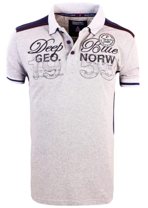 Geographical Norway Heren Poloshirts Kaxidor Bendelli Grijs 2 Large