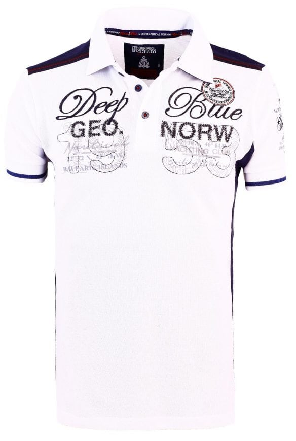 Geographical Norway Heren Poloshirts Kaxidor Bendelli Wit 19 Large