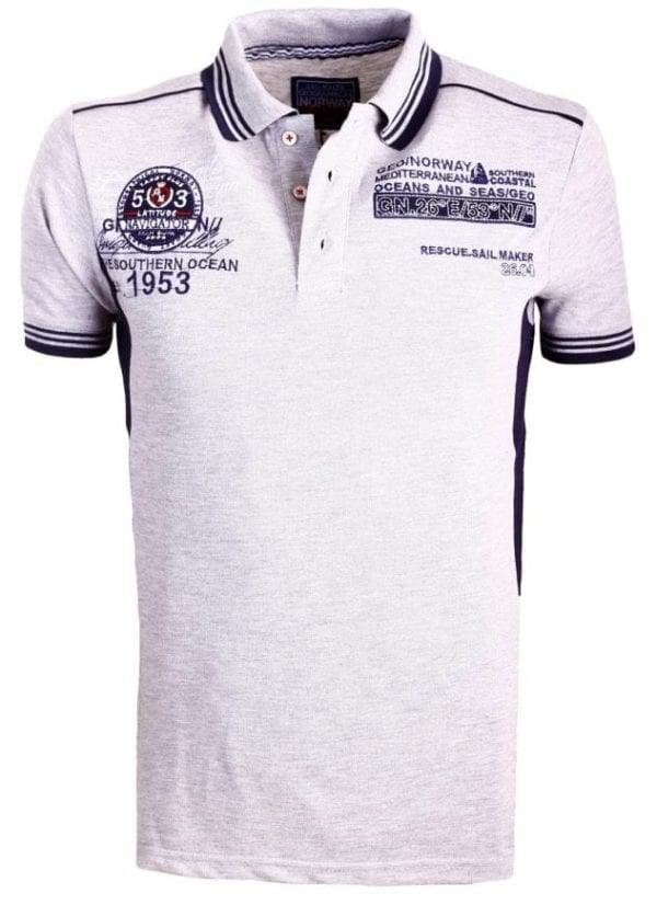 Geographical Norway Heren Poloshirts Polos Shirts Karpet Grijs Bendelli 4 Large