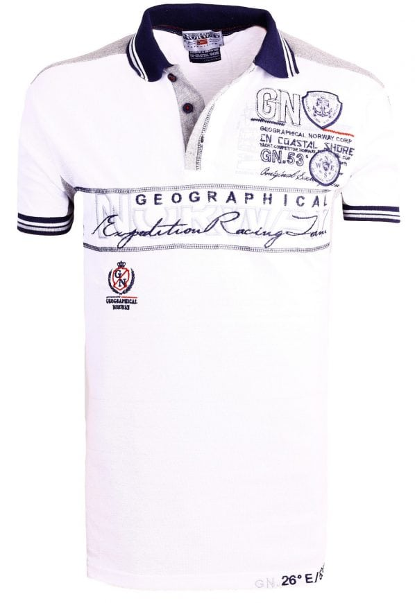 Geographical Norway Heren Poloshirts polos Kapable Bendelli Wit  13 Large
