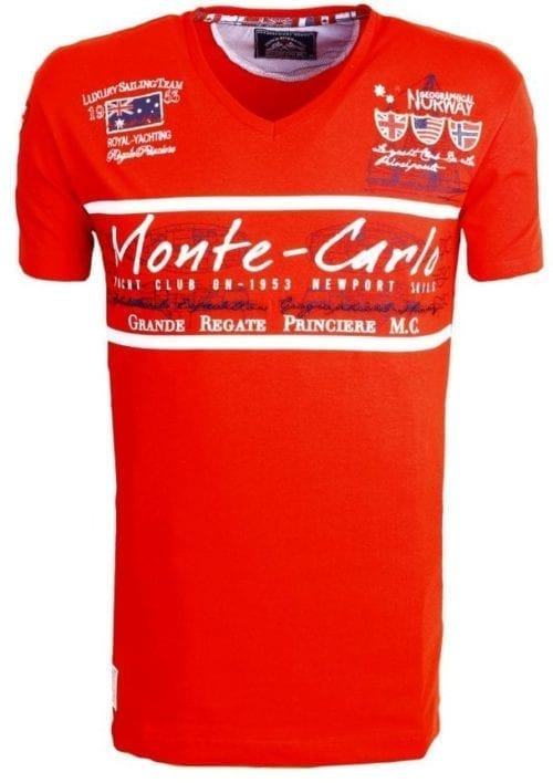 Geographical Norway Heren Shirts Tshirt Jasmin Monte Carlo Salingteam Blauw  Large