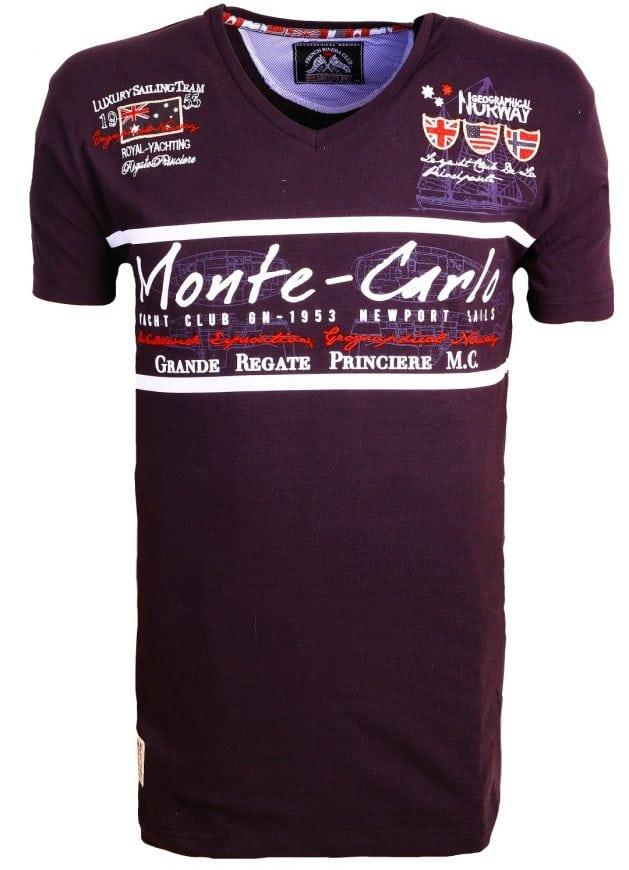 Geographical Norway Heren Shirts Tshirt Jasmin Monte Carlo Salingteam Zwart 3 Large