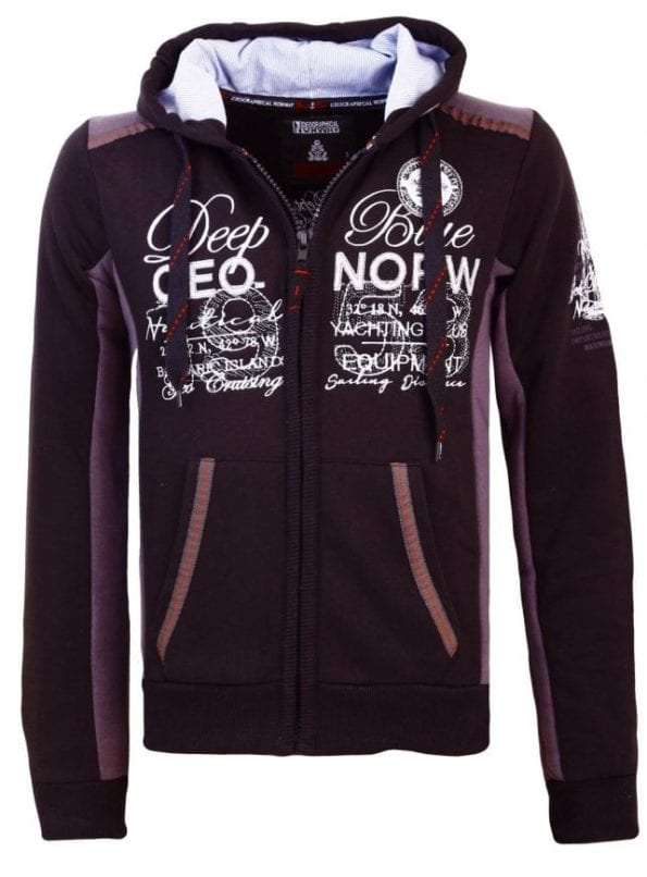 Geographical Norway Heren Sweater Fahrenheit Zwart  22 Large