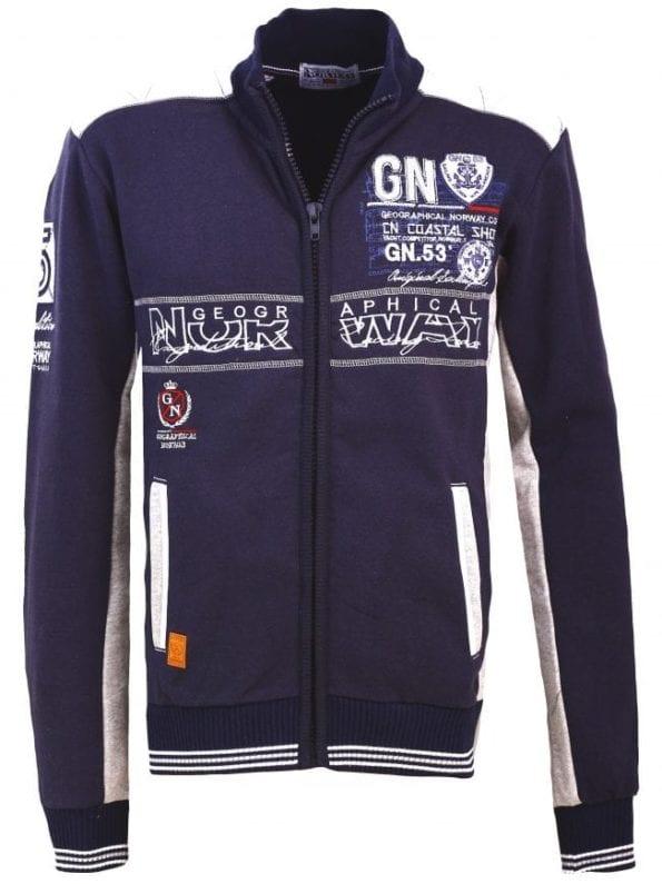 Geographical Norway Heren Sweater Fanker Blauw  18