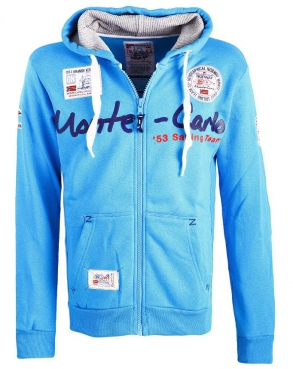Geographical Norway Heren Vest Capuchon  Golden Men Turquoise1 Large