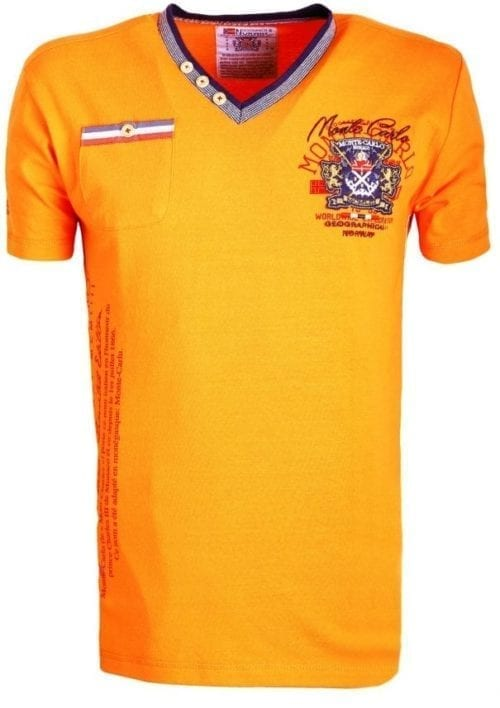 Geographical Norway Shirts Tshirts Heren Jalium Bendelli Oranje  Large