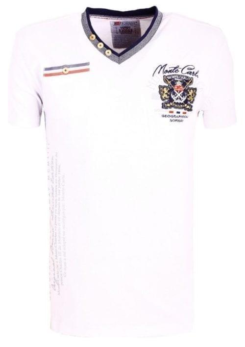 Geographical Norway Shirts Tshirts Heren Jalium Bendelli Wit  Large