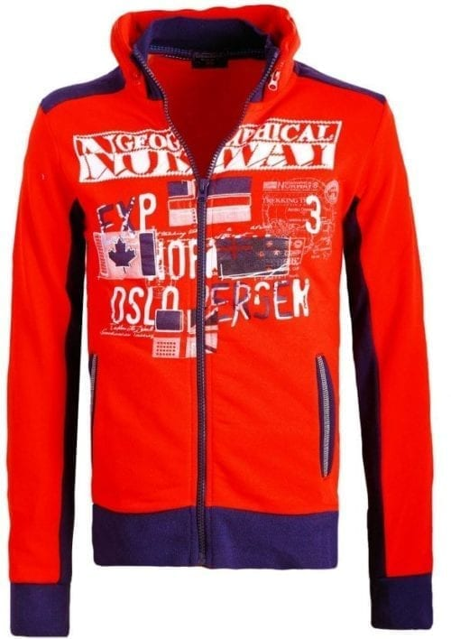 Geographical Norway Sweater Femporio Bendell Rood 8 Large