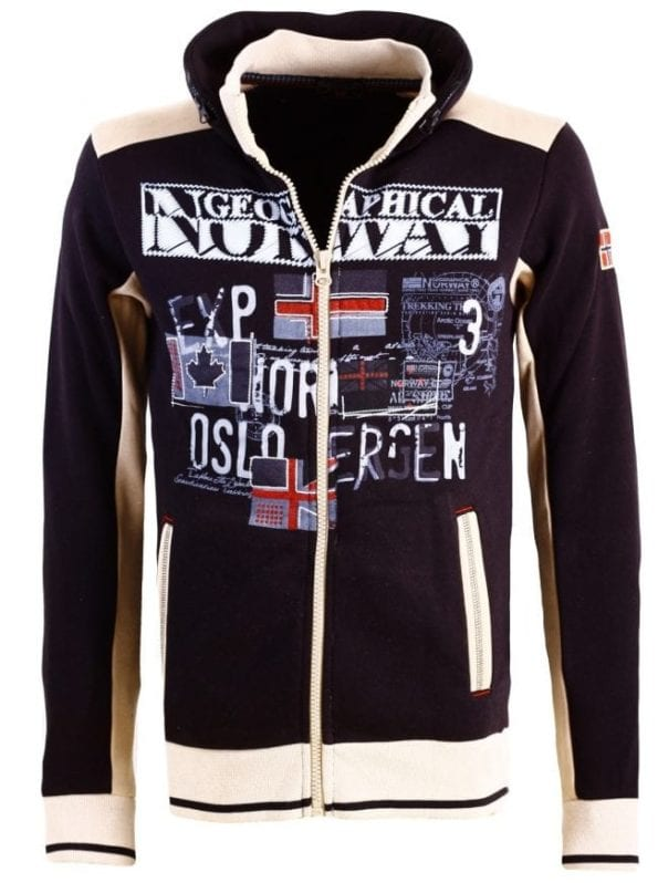 Geographical Norway Sweater Femporio Bendell Zwart 7 Large