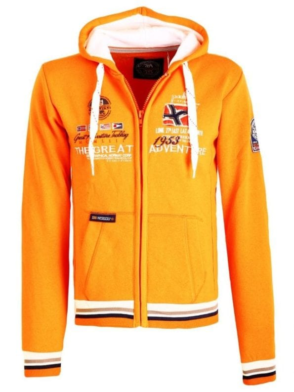 Geographical Norway Vest Sweater Grenouille Oranje 1 Large