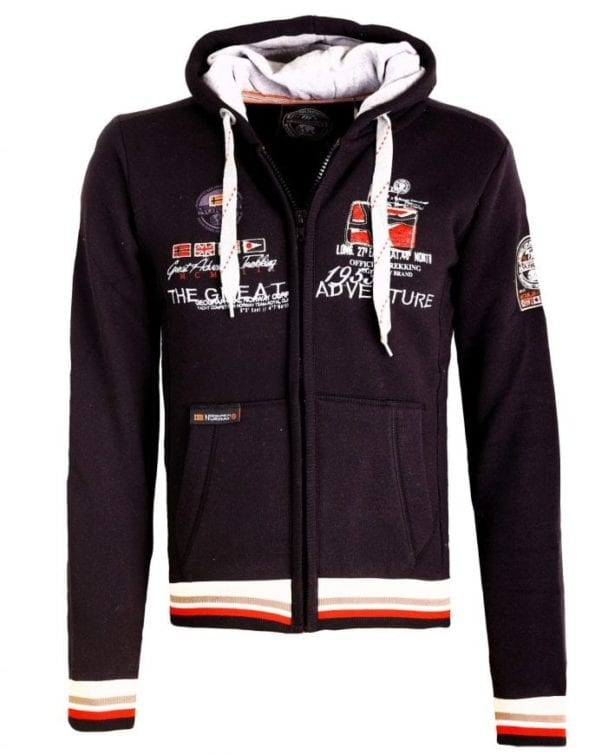Geographical Norway Vest Sweater Grenouille Zwart3 Large