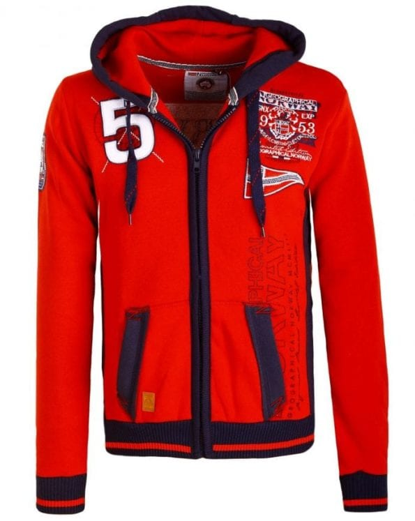 Geographical Norway Vesten Gantibe Sweater Rood 10 Large