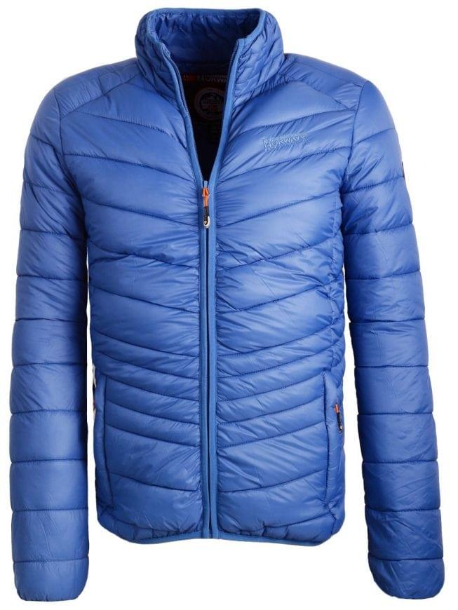 Lichtblauwe Winterjas.Geographical Norway Heren Winterjas Lichtblauw Chaplin Bendelli