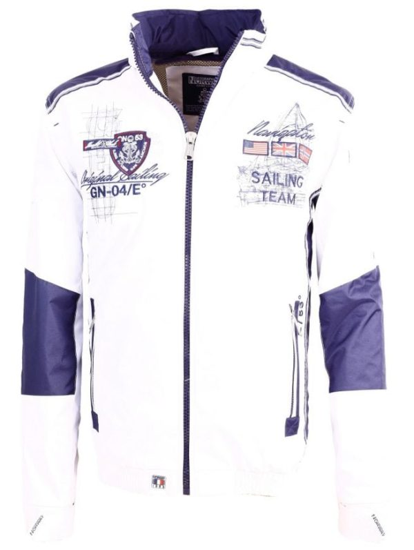 Geographical Norway Zomerjas Heren Chrome Bendelli Wit 2 Large