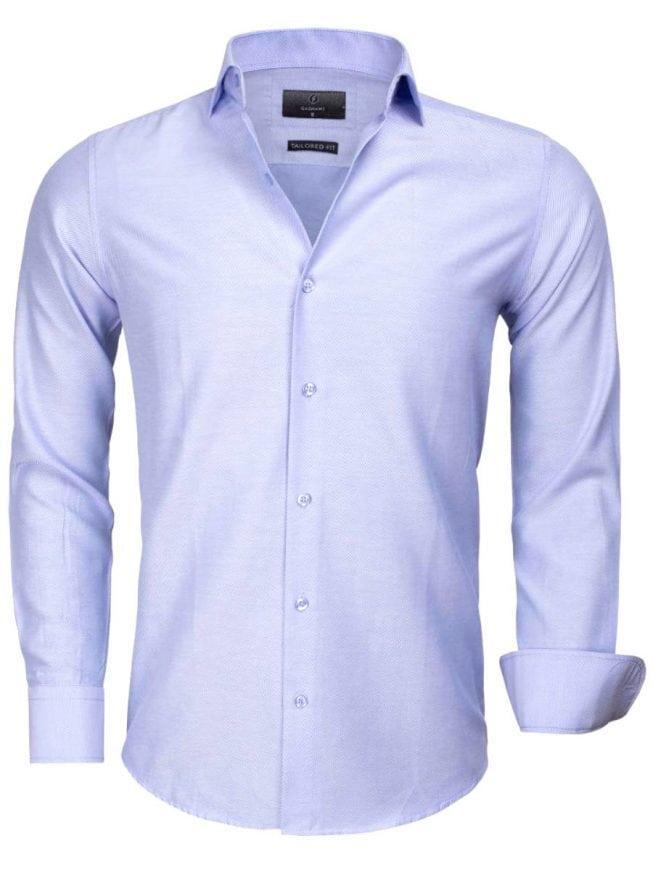 Heren Overhemd Blauw.Gaznawi Heren Overhemd Blauw Cute Away Boord 65012 Bendelli