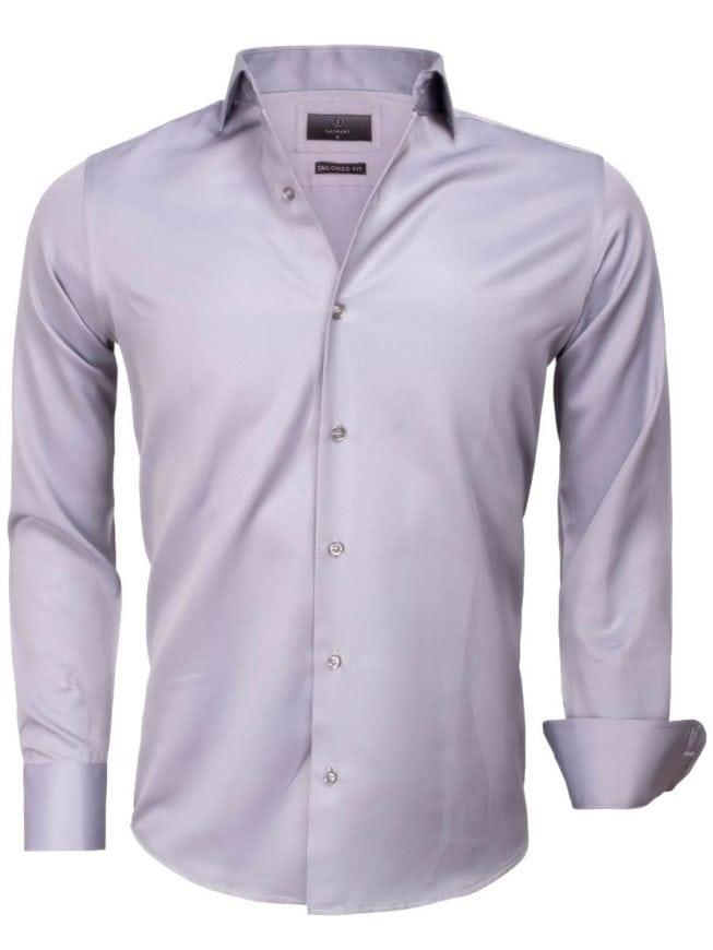 Grijs Overhemd Heren.Gaznawi Heren Overhemd Grijs Cute Away Boord 65012 Bendelli