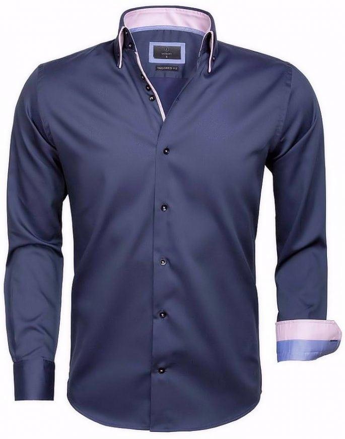 Grijs Overhemd Heren.Gaznawi Heren Overhemd Dubbele Kraag Grijs 65004 Bendelli
