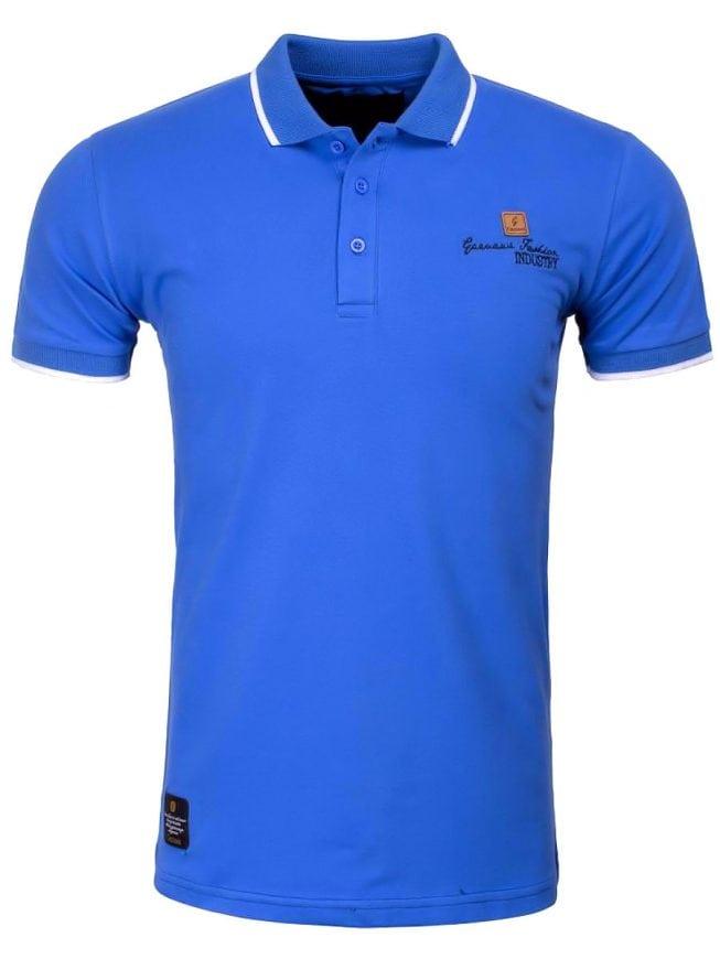 Goedkope italiaanse poloshirts heren Gazanawi blauw 69039 voorkant