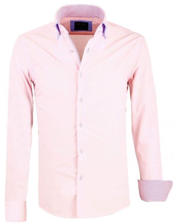 Heren Overhemden Italiaans Dubbele Kraag Roze Enrico Polo 9 Large