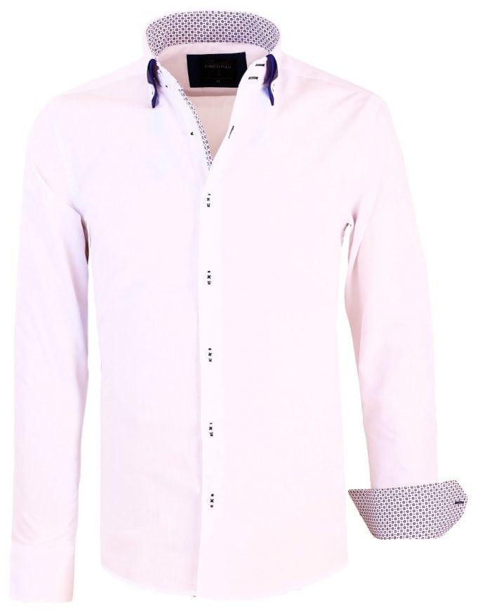 Italiaans Overhemd Heren.Enrico Polo Italiaans Overhemd Dubbele Boord Wit 30321 Bendelli