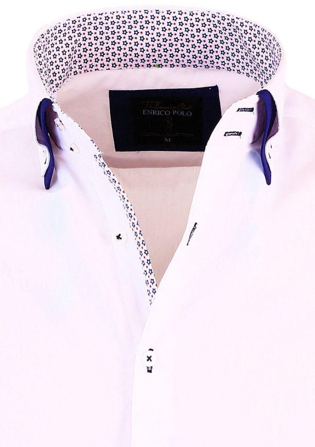 Overhemd Italiaans Design.Enrico Polo Italiaans Overhemd Dubbele Boord Wit 30321 Bendelli