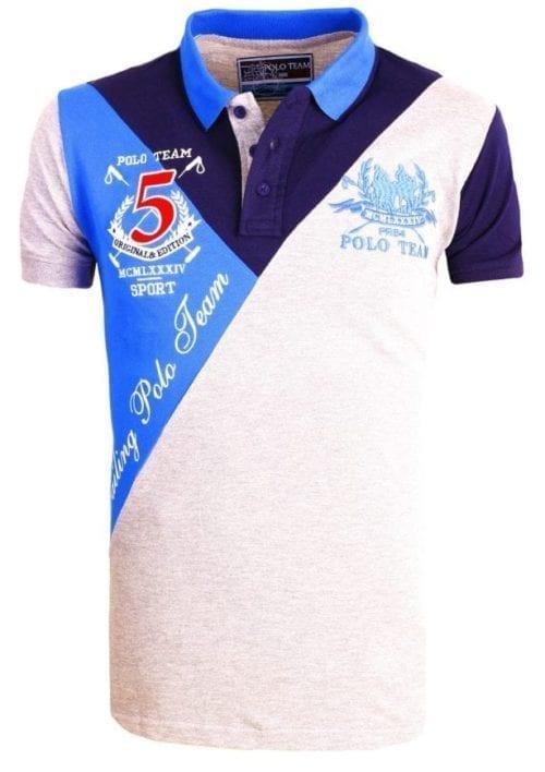 Heren Polo Aanbieding Rivaldi Poloshirt Grijs 29 Large