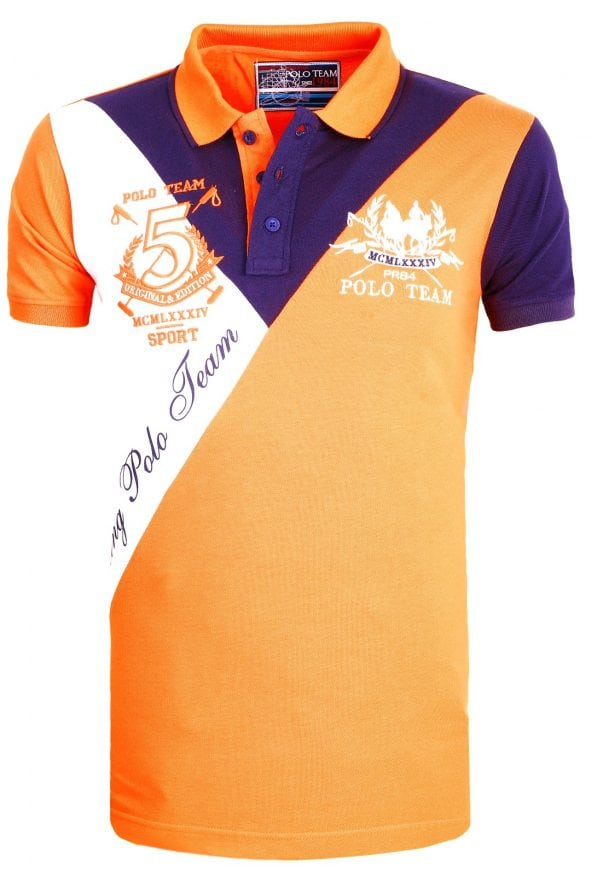 Heren Polo Aanbieding Rivaldi Poloshirt Oranje 11 Large