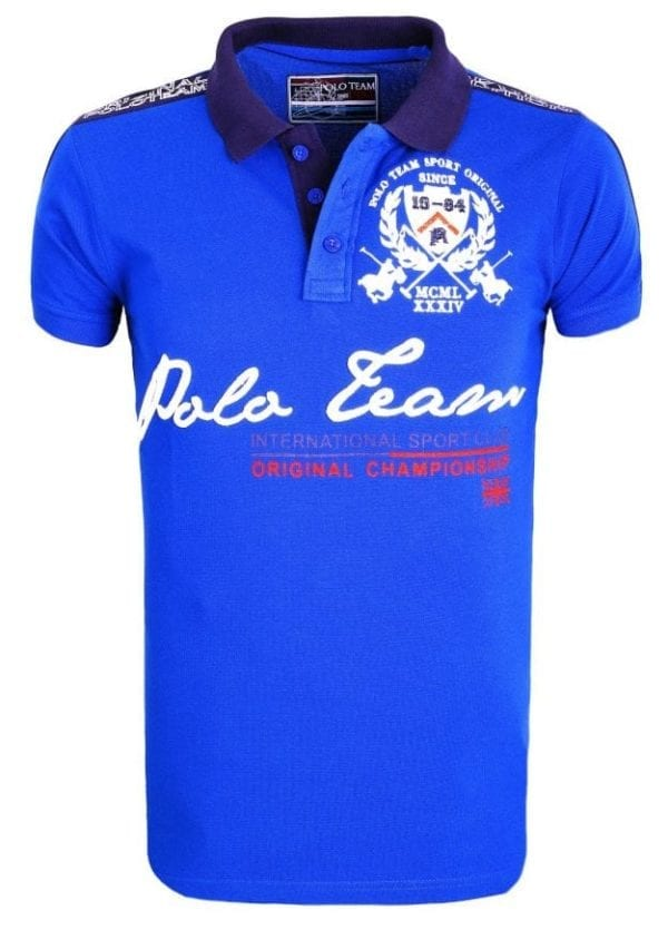Heren Polo Rivaldi Polos Bedrukt Blauw 1 Large
