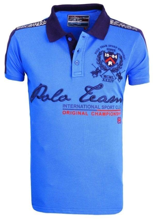 Heren Polo Rivaldi Polos Bedrukt Lichtblauw 27 Large