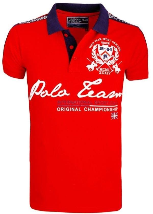 Heren Polo Rivaldi Polos Bedrukt Rood 1 Large