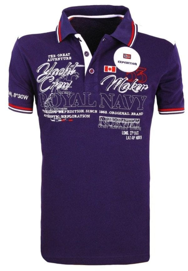 Heren Polos Geographical Norway Poloshirts Navy 1 Large