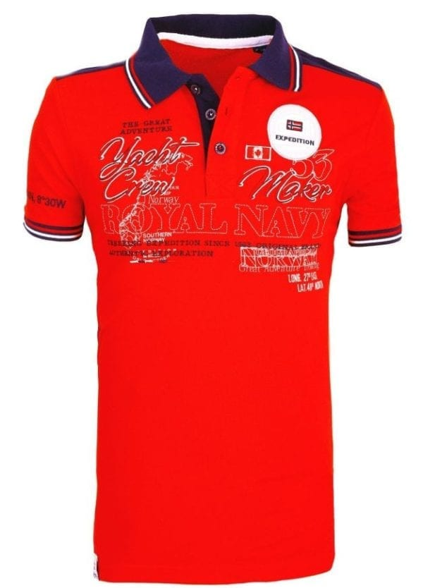 Heren Polos Geographical Norway Poloshirts Rood 2 Large