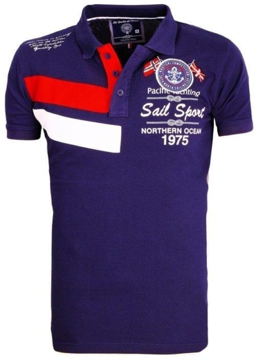 Heren Polos Rivaldi Poloshirt korte Mouw Blauw 1 Large