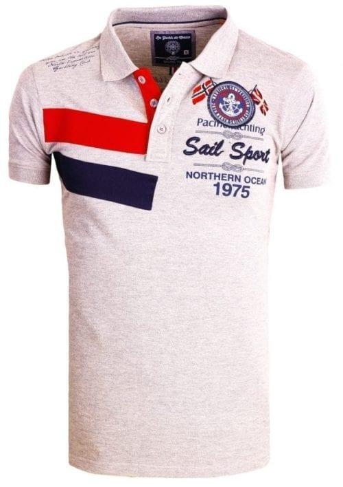 Heren Polos Rivaldi Poloshirt korte Mouw Grijs 5 Large