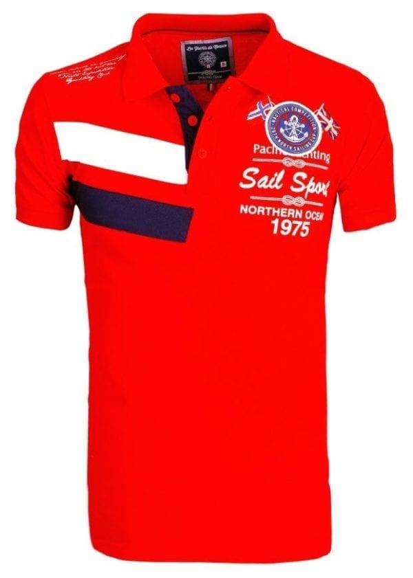Heren Polos Rivaldi Poloshirt korte Mouw Rood 18