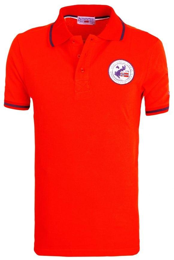 Heren Poloshirt Geographical Norway Logo op de Borst Kamelo Polo Rood 4 Groot