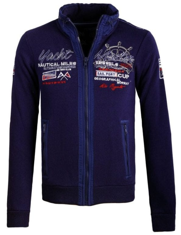Heren Vesten Geographical Norway Gentury Blauw Bendelli 34 Large